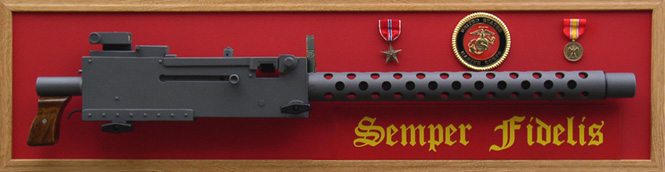 Guns Of Liberty Marine 1 Browning M1919A4 Display Replica Semper Fidelis with medals and militaria
